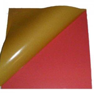 Zellkautschukplatten PS20, rot, 2mm stark, 315 x 330 mm, doppelseitig klebend
