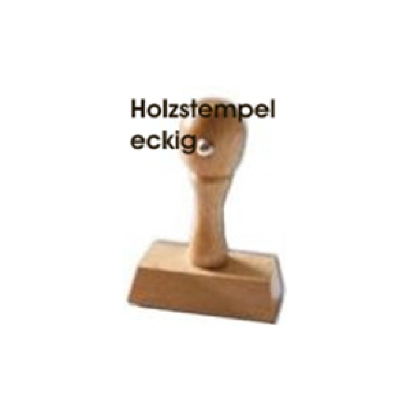 Holzstempel Griff eckig 6mm Höhe - Breite wählbar - ohne Platte