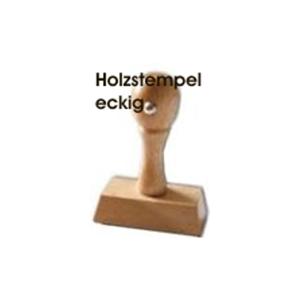 Holzstempel Griff eckig 15mm Höhe - Breite wählbar - ohne Platte