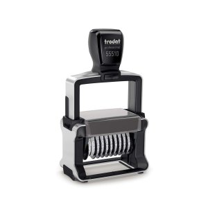 trodat Professional 4.0 55510/PL - 10 Zifffern - 5mm Höhe mit Textplatte