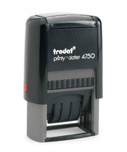 trodat printy 4750 mit Datum 4mm - 41mm x 24mm mit Platte