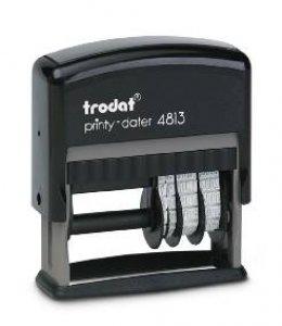 trodat printy 4813 mit Datum 3.8mm - 26mm x 9mm mit Platte