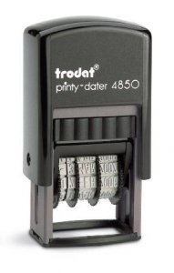 trodat printy 4850 Datumsstempel mit Platte 25mm x 5mm