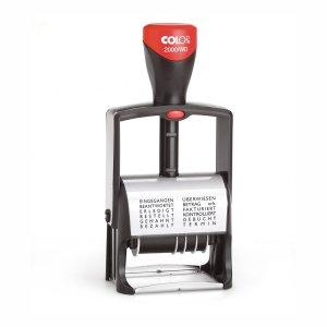 Colop Classic Line 2000/WD Dater und Wortbandstempel - 12 Textbänder