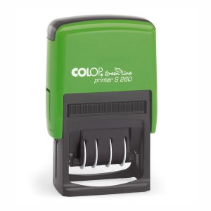 Colop Printer S260 Green Line Dater mit Textplatte