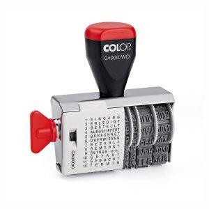 Colop 04000/WD Wortbandstempel - 12 Textbänder